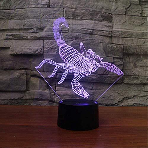 3D LED Pinzette Form Nachtlichter Acryl Nachtlichter 7 Farben Kreative dekorative Tischlampen Kinderspielzeug Festival Weihnachtsgeschenke
