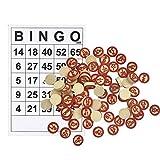 fllyingu Cartones De Bingo Clásico Divertido Juego De Cartas Familiar para Adultos Y Niños, Juego De Bingo Fiestas De Cumpleaños De Niños, Vacaciones O Reuniones Familiares