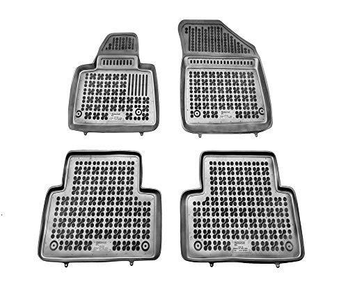 Rezaw-Plast Alfombrillas de Goma Compatible con Citroen C5 II (2008-2017) + Limpiador de Plasticos (Regalo) | Accesorios Coche Alfombrilla Suelo