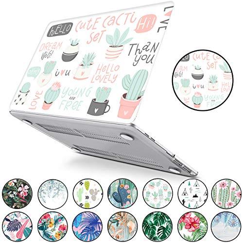 PapyHall Tropical Palm imprime una funda de plástico duro para Apple MacBook Air de 11 pulgadas Modelo: A1465 y A1370 Lovely Cactus
