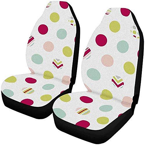 Enoqunt Kleurrijke polka dot auto stoelhoezen autostoelhoezen voorstoelen passen