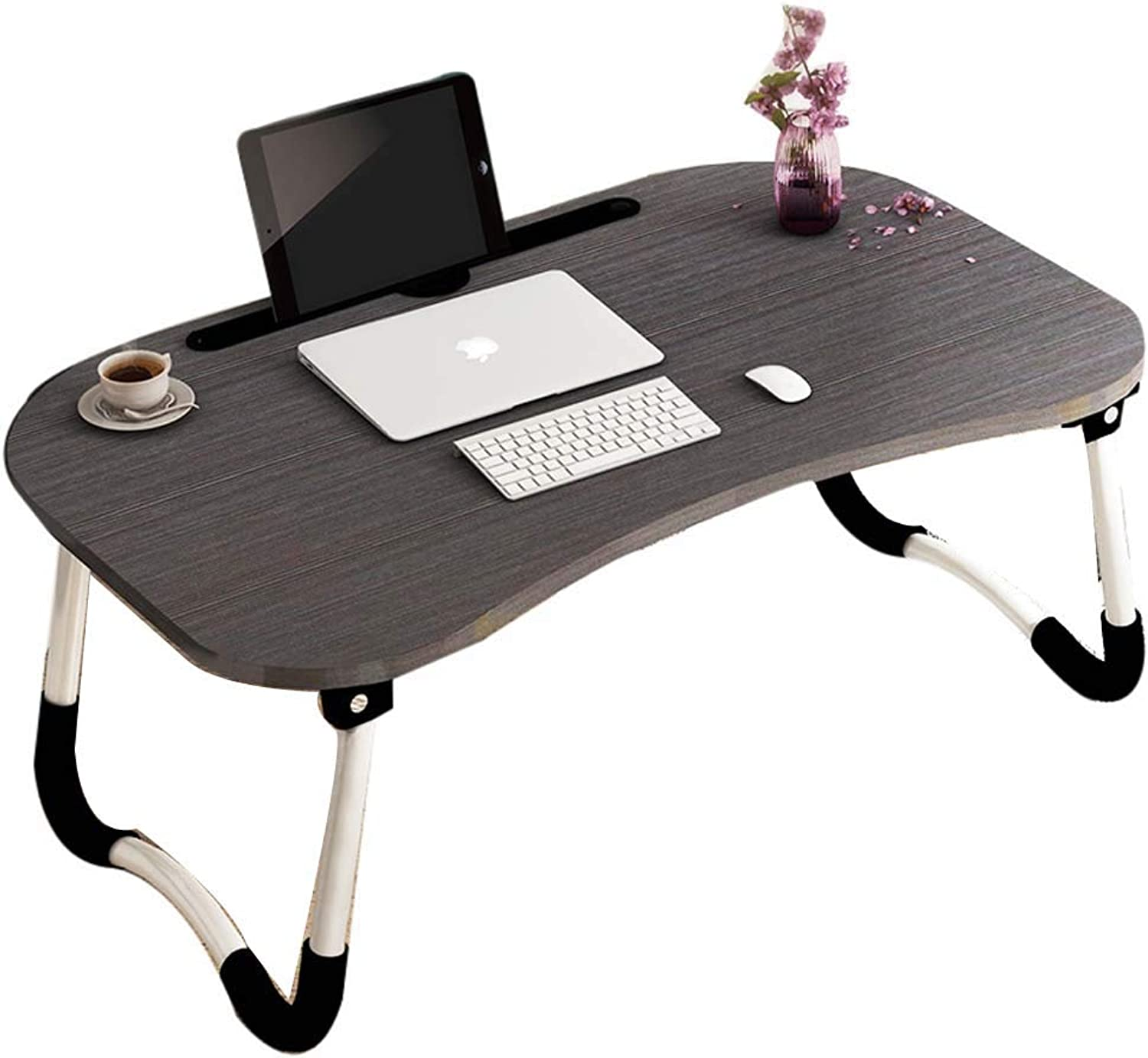 Yhz@ Laptop Table Bed Foldable Lazy Table, Dormitory Study Desk Small Table for Table Bedroom - Foldable -60cm40cm28cm