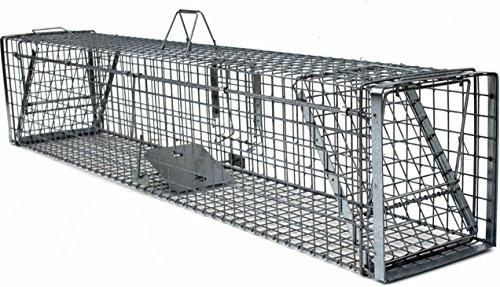 Holtaz Hardy 180x34x34 cm 2 Porte Gabbia Trappola in Metallo per Catturare Animali Vivi. con Extra Un Esca.