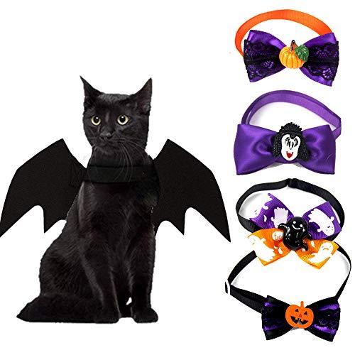 Caicainiu - Alas de murciélago de Halloween, disfraces de mascotas para perros pequeños y gatos, disfraz de Halloween para Halloween y decoración de fiesta