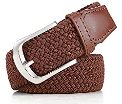 Pegaso Womens Streatchable Braided Elasitic Belt (Camel, Free Size)