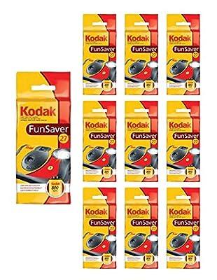 10x Kodak Disposable Camera FunSaver Flash 35mm Film One Time Use by Kodak