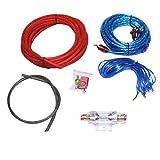 winomo Instalación Set para Auto Audio 8GA/amplificador Cable Set/subwoofer Amplificador Cable Kit