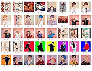 40PCS BTS MAP of The Soul Pesonal New BTS Album LOMO Card Set of Gift for A.R.M.Y- BTS Photo Postcard Set with 1 Hemp Rope and 5 Photo Clips 1 Tattoo Stickers 2019