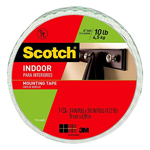 Scotch-Mount Indoor Double-Sided Mounting Tape Mega Roll 110H-Long-DC, 3/4 in x 350 in