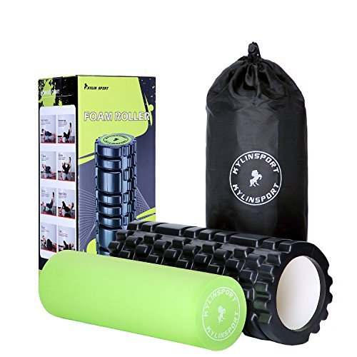 KYLIN SPORT Rouleau en Mousse de Massage 2 en 1 Foam Roller Trigger Point pour Le Pilates Yoga Crossfit (Foam Roller 2 en 1)