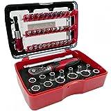 Connex COXB973946 - Caja de llaves de vaso y puntas con carraca (46 piezas)