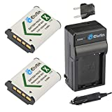 EforTek Replacement Battery (2-Pack) and Charger kit for Sony NP-BX1,Cyber-Shot DSC-HX80, HX90V, HX95, HX99, HX350, RX1, RX1R II, RX100 (II/III/IV/V/VA/VI), FDR-X3000, HDR-AS50, AS300 and More