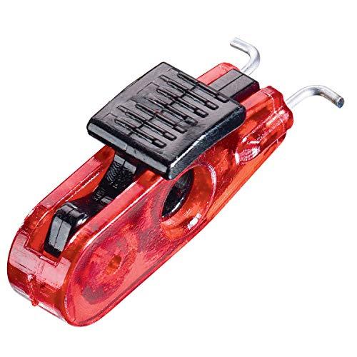 Master Lock Bloqueo de disyuntor en Miniatura, Etiqueta conmutadores basculantes estándar S2390, Rojo y Negro