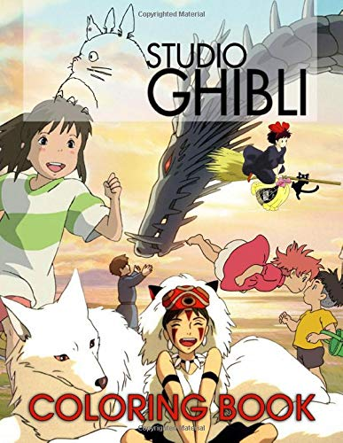 Ghibli Studio Coloring Book: Great Gift For Kids And Adults Who Love Ghibli Studio Animation Movie