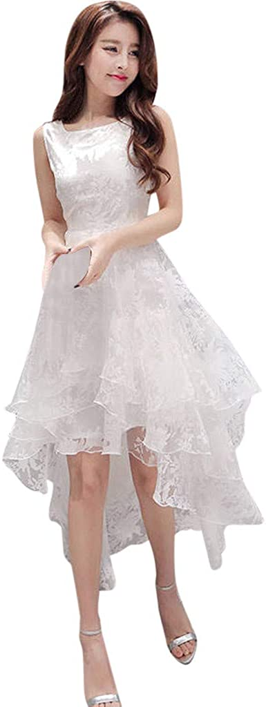 Wedding Guest Dresses Swing Organza Floral Print Prom Party Dress Summer Women Lace Tank Formal Cocktail Dress