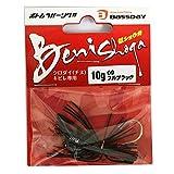 Bassday(バスデイ) ワーム 紅ショウガ 10g #09 フルブラク.
