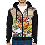 JacobCole Scooby Doo Mens Front Pocket Pullover Jacket,Painted Sweaters for Winter