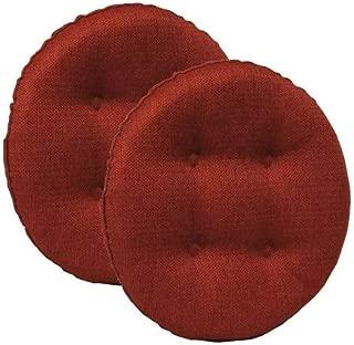 Klear Vu Omega Barstool Cushion, 2 Pack, Flame Red