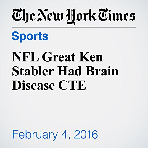 NFL Great Ken Stabler Had Brain Disease CTE audiobook cover art