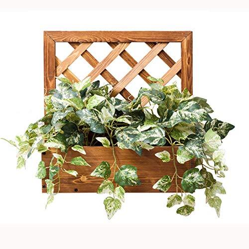 Espositore per Fioriera Rustica da Parete, Supporto per Piante Sospese in Legno, Mensola Verticale per Vasi da Fiori, Struttura per Arrampicata in Vaso per Piante Succulente Mini Cactus