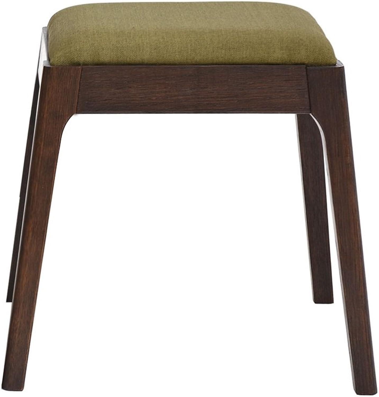 stool makeup wood Solid AJZXHE fabric simple stool dresser