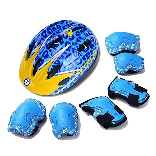 Lowest Prices! LLQQ Cycle Helmet,Helmets for Kids 5-8,Outdoor Sports Protective Gear Safety Pads Set...