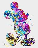 RIHE Pintar por Numeros para Adultos, 16 x 20 Pulgadas DIY Pintura acrílica sobre Lienzo, Ratón Colorido (Sin Marco)