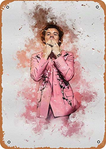 Metal Sign-Harry Styles Music Poster Unframed Tin Sign for Gril's Bedroom Living Room Wall Decor Harry Styles Fans Gift 12x8