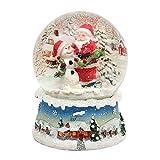 Dekohelden24 Maravillosa bola de nieve, Papá Noel y muñeco de nieve, diámetro 6,5...
