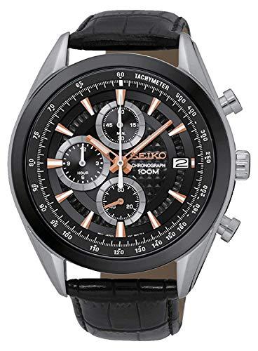 Seiko Chronograph Quartz Men's Watch Ssb183P1 Black