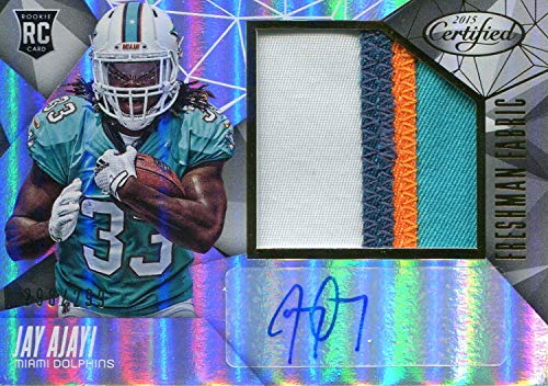 Jay Ajayi Autographed 2015 Panini Certified Rookie Jersey Card - NFL Autographed Football Cards