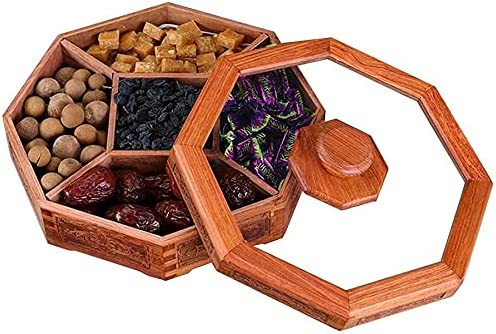 Fruit Bowls Snack Platter Wooden Cover Bowl With Serving Nut Max favorite 64% OFF