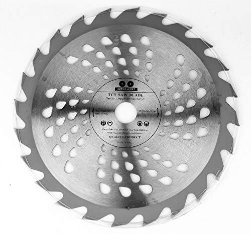 Hoja de sierra circular de 230 x 22,23 mm, 24 dientes, para madera