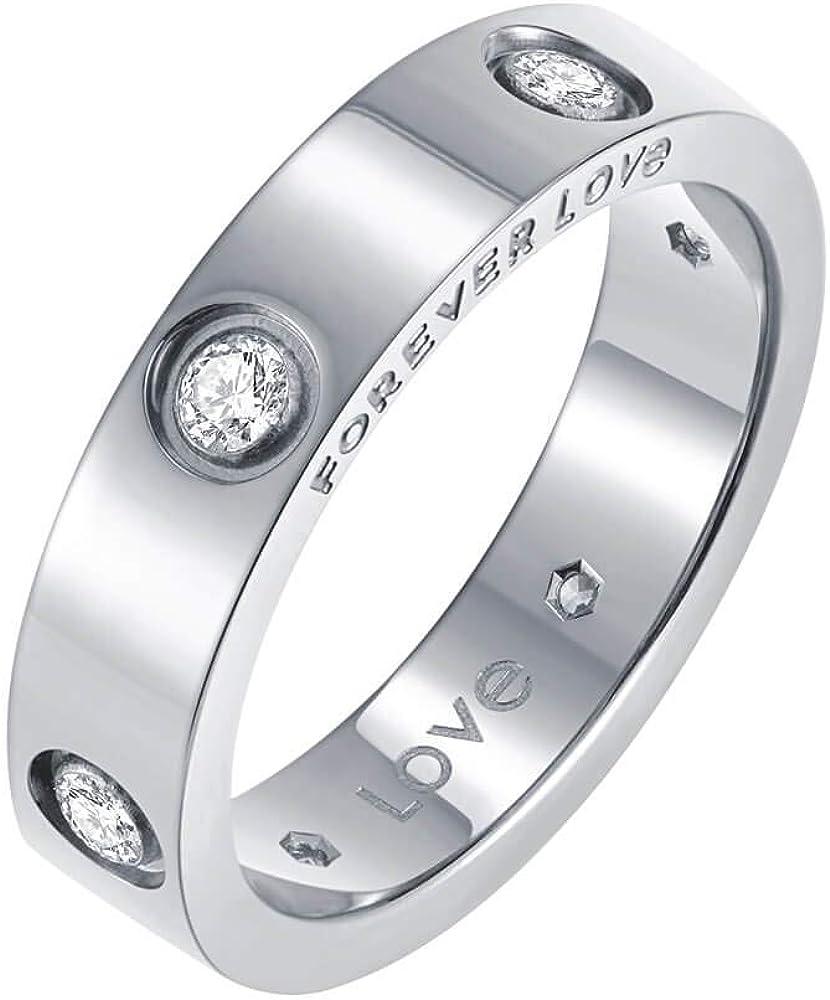 Nireus 18K Gold Plated Love Ring | Cubic Zirconia Promise Rings for Women | Gold Rings for Women