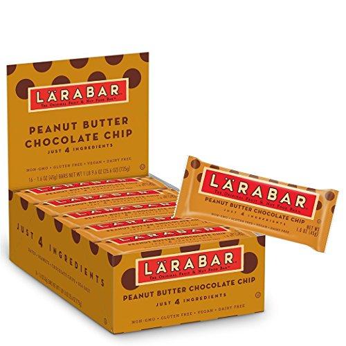 Larabar Gluten Free Bar, Peanut Butter Chocolate Chip, 1.6 oz Bars 16 Count (Pack of 3)