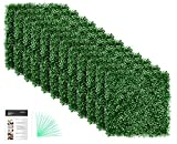 """Grass Wall Panel Boxwood Hedge Wall Panels Grass Backdrop Wall with UV Protection for Artificial Green Wall Privacy Fence Vertical Garden Backyard Screen Outdoor Wedding Decor 20"""" x 20"""" Pack of 12"""
