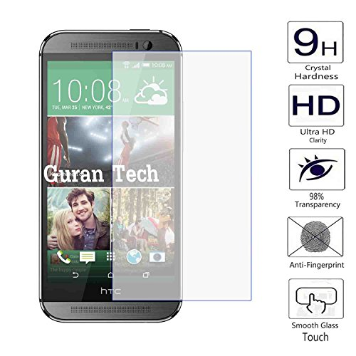 Guran® Protector de Pantalla Vidrio Cristal Templado Para HTC One M8 Smartphone Film