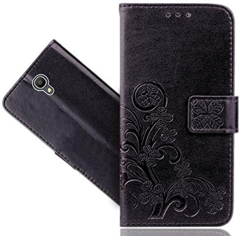 Alcatel Pop 4 (5.0) Handy Tasche, FoneExpert® Blume Wallet Hülle Flip Cover Hüllen Etui Hülle Ledertasche Lederhülle Schutzhülle Für Alcatel Pop 4 (5.0)
