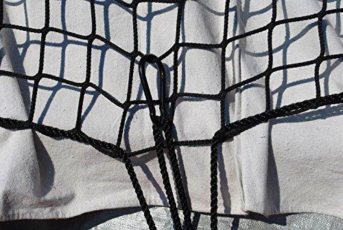Mein LAY 42 x 50 Cargo Net Short Truck Bed Cargo Nets, Heavy Duty Cargo Nets for Pickup Trucks with Cam Buckles /& S-Hooks