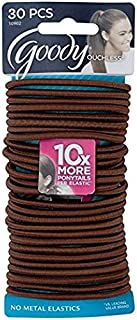 Goody WoMens Ouchless Braided Elastics, Brown, 30 Count