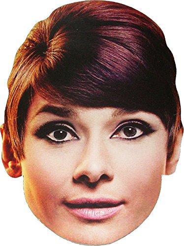 Movie Stars Hollywood Star - Audrey Hepburn -Masque de Visage Fait en Carte Rigide