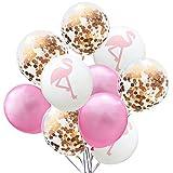 Vi.yo. Fournitures de décorations de Noël 10PCS, avec 3 Ballons imprimés, 3 Ballons Solides, 4 Ballons à Paillettes pour Baby Girl Boy Lady Birthday Party Wedding 40cm Style 4