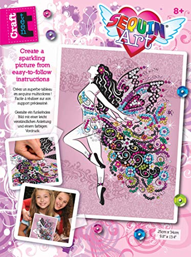 Sequin Art 1809 Fairy Craft Project From The Craft Teen Range 28 x 37 Centimetres