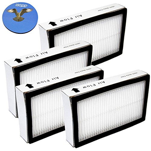 HQRP Exhaust Filter 4-Pack for Panasonic AC38KDDJZ000 AC38KAXVZ000 fits MC-UG323 MC-UG327 MC-UL425 MC-UL427 MC-UL815 MC-V7501 MC-V7505 MC-V7521 MC-V7522 MC-V7531 MC-V7571Vac Vacuum Cleaner + Coaster