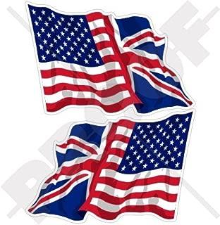 USA United States America & British Union Jack Waving Flag, US & UK 3