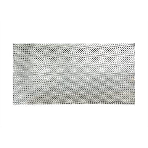 Fasade Diamond Plate Chrome 4 x 8 ft. Wall Panel 4 x 8