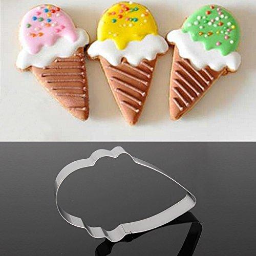 Bluelover Acier Inoxydable Crème Glacée Forme Biscuit Cookie Cutter Outil De Décoration