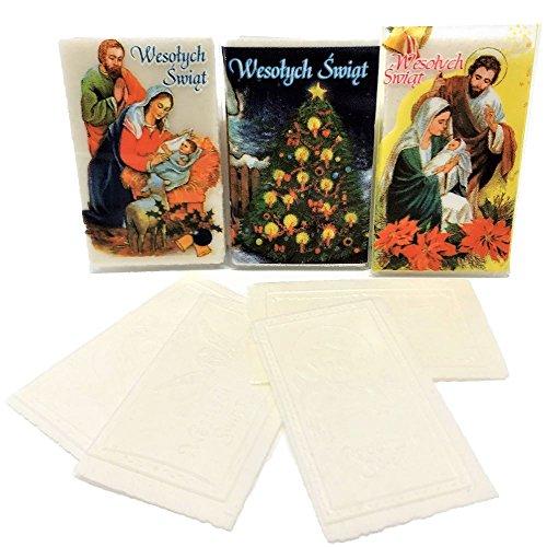 Set of 12 Mini Polish Christmas Wafers (Oplatki)
