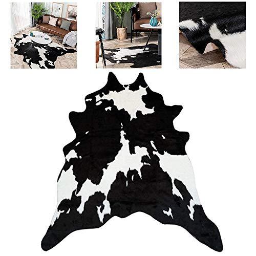 LXING Teppiche Simulation Kuh Teppich Kuhhaut Tierdruck Weicher Strapazierfähiger Teppich Moderner Stil Unregelmäßiger Teppich Für Schlafzimmer Wohnzimmer Home Floor 78 * 105 cm