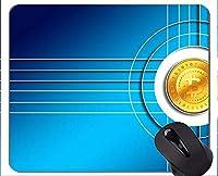 マウスパッド滑り止め、ドルビットコイン通貨ゴム製マウスパッド